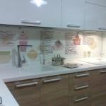 Каленое стекло для кухни и рабочей стенки