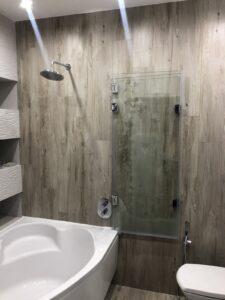 стеклянная шторка гармошка для ванной