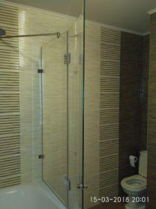 Изогнутая шторка для ванной по радиусу искривления
