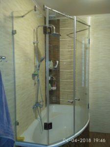 стеклянные двери на ванну