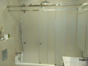 Раздвижные шторки для ванной матовые стеклянные, раздвижные двери на ванну вместо неподвижной шторки