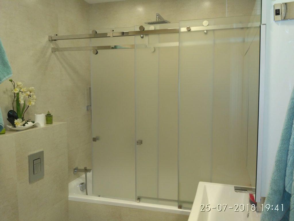Раздвижные двери шторки для ванной, душевые ширмы для ванны