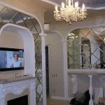 Зеркальная плитка в частном доме